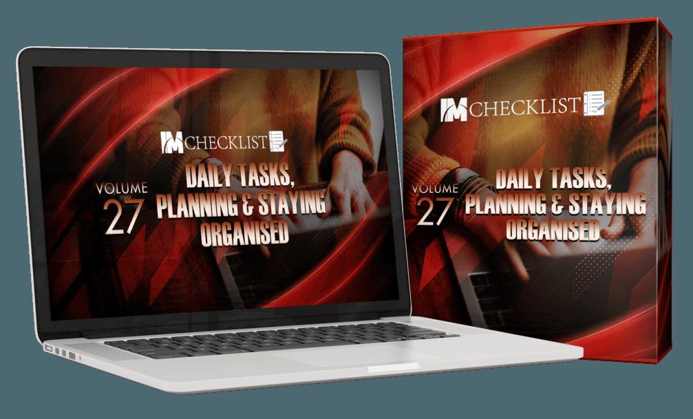 IM Checklist Daily Tasks & Planning