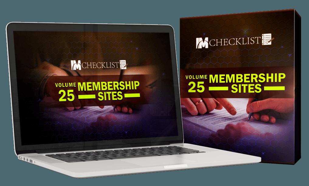 IM Checklist Membership Sites